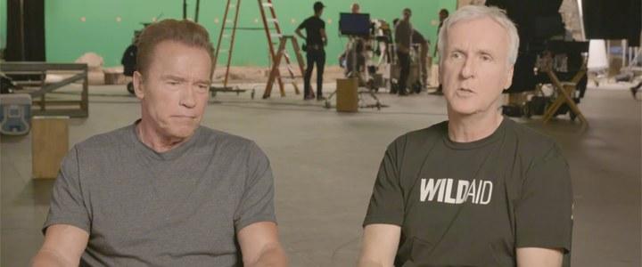 Arnold Schwarzenegger e James Cameron gravam campanha pela redução do consumo de carne