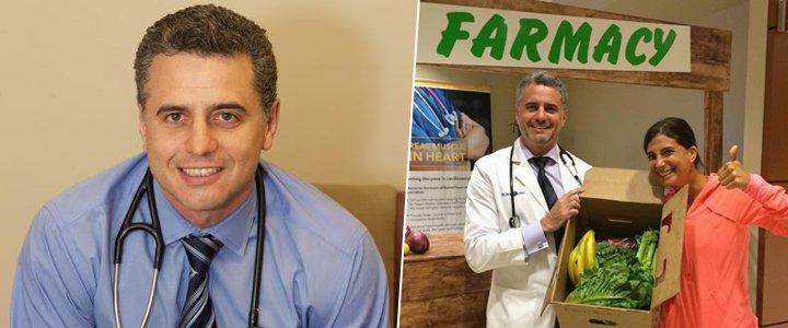 Médico vegano norte-americano receita vegetais no lugar de remédios