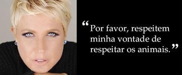Xuxa pede respeito à sua decisão de ser vegetariana a mais de 6 milhões de seguidores